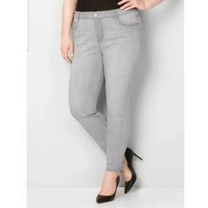 Avenue Divine Stretch Skinny Jeans Grey 14